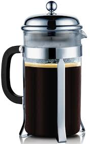 Glass French Press Coffee Maker Chrome By Sterlingpro
