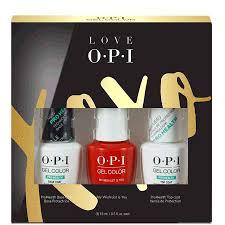 opi gelcolor love opi top base coat trio pack gel polish