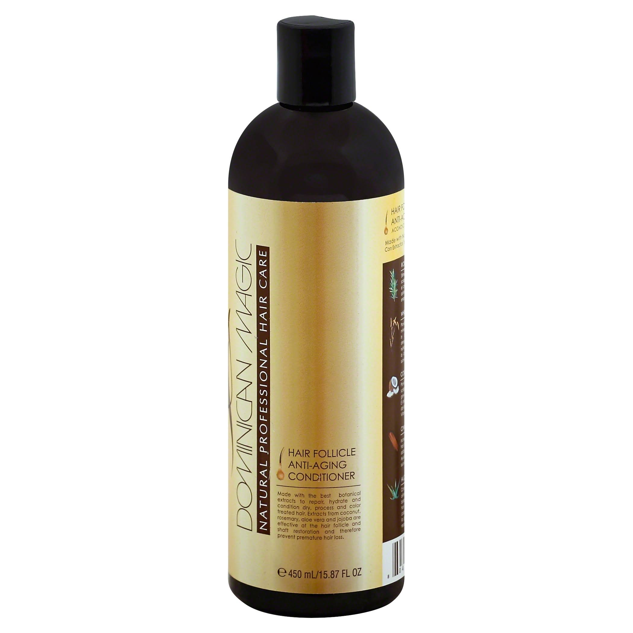 Dominican Magic Natural Professional Hair Care Conditioner, Hair Follicle, Anti-Aging - 15.87 fl oz