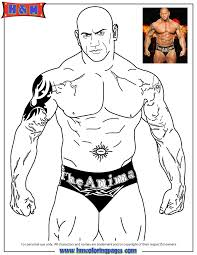 Free Printable WWE Wrestling Coloring Pages