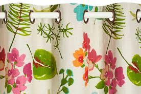tissu pour rideaux à motif en coton en carioca