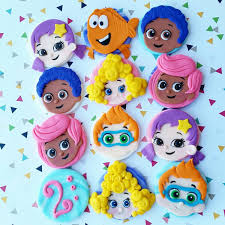 Bubble Guppies Bathroom Decor by Bubble Guppies Edible Fondant Cupcake Toppers
