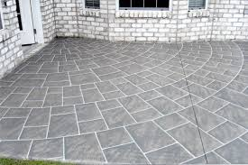 Patio Painting Concrete Floors Inside With Black And Grey Color