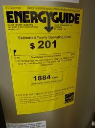 Hybrid Water Heater Energy Guide Sticker