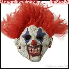 Scary Halloween Half Masks by 2017 Selling Halloween Party Evil Circus Clown Mask Pennywise