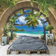 vlies fototapete 3d fenster strand meer natur wohnzimmer