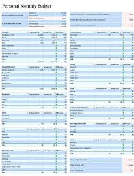 Spreadsheets For Budgets Free Personal Monthly Budget Spreadsheet Templates Wedding Printable