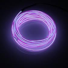 neon pour voiture exterieur lerway 5m el wire fil neon lumiere led cable guirlande