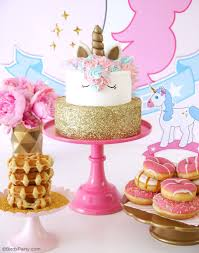 Pink And Gold Birthday Themes by My Daughter U0027s Unicorn Birthday Slumber Party Party Ideas Party
