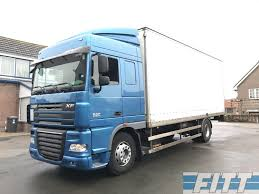 100 24 Box Truck DAF FA XF105460 ZF 16 Retarder Gesloten Bak Closed Box Trucks For
