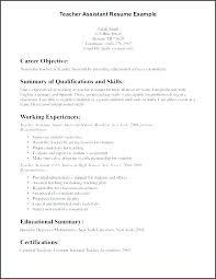 Sample Resume Teaching Teacher Assistant