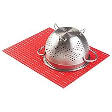 Sink Protector Mat Uk by Mdesign Kitchen Silicone Sink Protector Mat Large Red Amazon