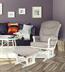 Light Grey Rocking Chair Cushions by Amazon Com Dutailier Sleigh Glider Multiposition Recline And