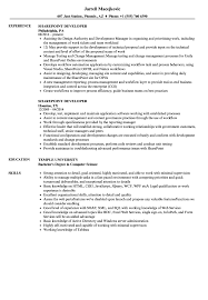 Download Sharepoint Developer Resume Sample As Image File