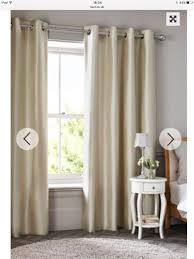 Faux Silk Eyelet Curtains by Next Blackout Cream Faux Silk Eyelet Curtains In Pill Bristol