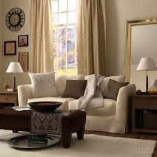interior warm living room nuanced using beige wall accents paint