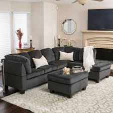 Poundex Bobkona Sectional Sofaottoman by Best Selling Home Evan 3 Piece Sectional Sofa Hayneedle