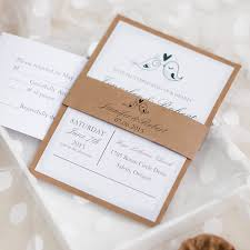 Love Birds Rustic Barn Layered Wedding Invitations EWLS047 As Low 179 Loading