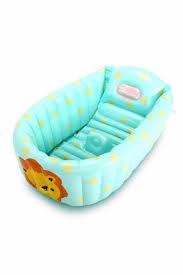inflatable baby bathtub cyan