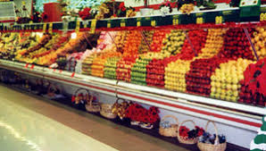 Supermarket Produce Display Case Lighting