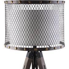Modway EEI 1571 Fortune Floor Lamp w Fabric Drum Shade in Steel