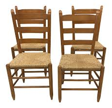 Vintage French Gio Ponti Style Ladder Back Rush Seat Dining Chairs - Set Of  4 6 Ladder Back Chairs In Great Boughton For 9000 Sale Birch Ladder Back Rush Seated Rocking Chair Antiques Atlas Childs Highchair Ladderback Childs Highchair Machine Age New Englands Largest Selection Of Mid20th French Country Style Seat Side By Hickory Amina Arm Weathered Oak Lot 67 Set Of Eight Lancashire Ladderback Chairs Jonathan Charles Ding Room Dark With Qj494218sctdo Walter E Smithe Fniture Design A 19th Century Walnut High Chair With A Stickley Rush Weave Cape Ann Vintage Green Painted