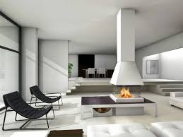 awesome modern fireplace in the middle of the living room livinator
