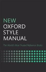 Oxford University Press Uk Exam Copy by New Oxford Style Manual Oxford University Press