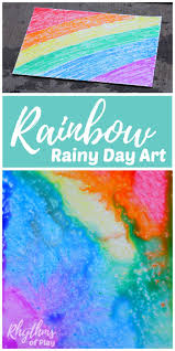 Rainbow Rainy Day Art Is A Simple And Science STEAM Project Great Open Ended Activity For Toddlers Preschool Kindergarten Kids