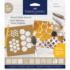 100 Studio 101 Designs Stencils Collection FaberCastell USA