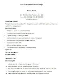 Receptionist Sample Resume For Templates Doc Of
