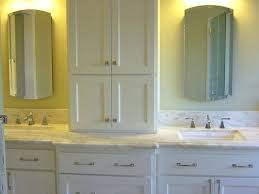 Bathroom Vanity Tower Cabinet by Linen Tower Cabinets Bathroommaple Vanity With Linen Tower Single