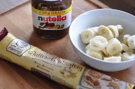 leckere banane nutella blätterteig taschen s backfabrik