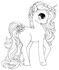 Collection Of Unicorn Horse Coloring Pages