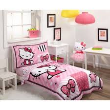 4 Piece Pink Toddler Bedding Set from Buy Buy Baby