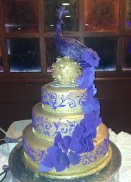 Aprils Cakes Gallery Wedding Cake Gold Round Purple