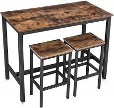 bartisch stehtisch barhocker küchentisch esstisch tresen industrial design vintage brown schwarz