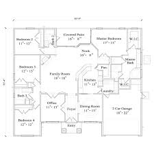 TheHouseDesigners4430 Modern Ranch House Plan With Slab