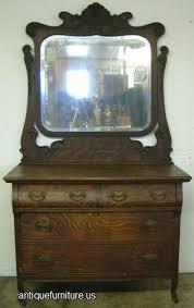 antique ornate tiger oak dresser mirror at antique furniture us