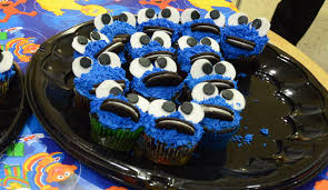 Several Residence Halls And The Office Of Residential Life Competed In A Cupcake Bake Off Pictured Are Lifes Cookie Monster Cupcakes