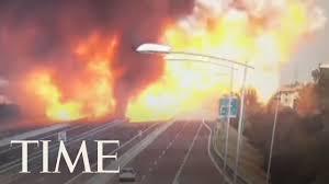 100 Truck Explosion Massive Causes Partial Bridge Collapse In Italy