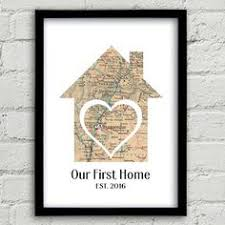 Our First Home Map Realtor Gifts 1st Gift Ideas Wife Anniversary Housewarming New For Couple