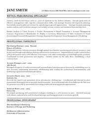 Purchasing Resume Objective Procurement