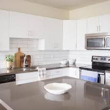 white brick tiles with gray grout design ideas