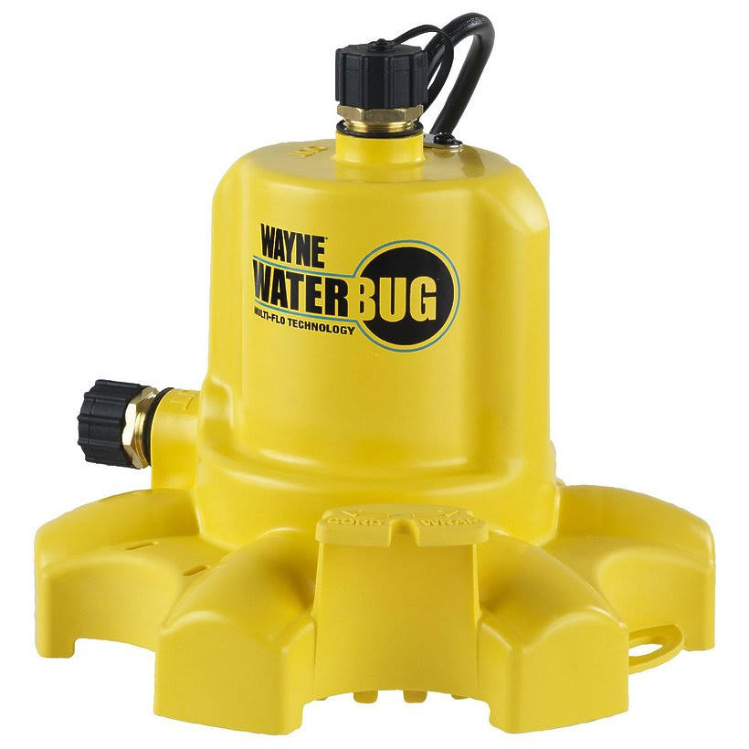 Wayne WaterBUG Submersible Utility Pump with Multi-Flo Technology