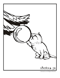 Kitten With Ornament Christmas Coloring Page