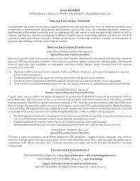Education For Resume Examples Free Special Teacher Example Regarding Sample