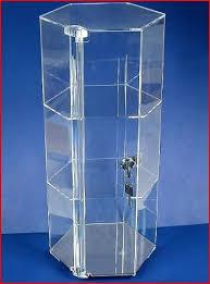 Acrylic Display Case Tall 24 W Lock