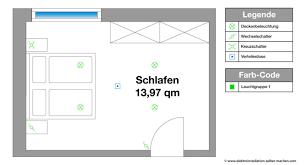 elektroinstallation planen schlafzimmer beleuchtung