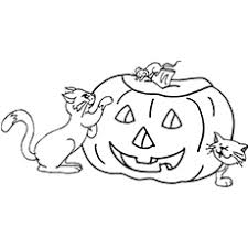 Scary Halloween Pumpkin Coloring Pages by Top 25 Free Printable Halloween Cat Coloring Pages Online